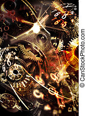 Spending your time Abstract conceptual backgrounds