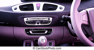 Car board - Close-up of a car board.