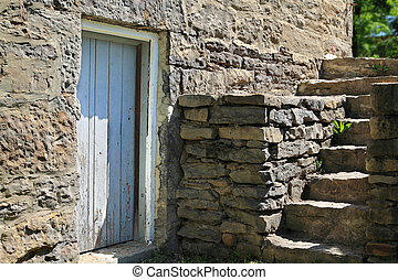 Very old Building exterior. - View of part old (historical...