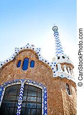Guell, casa, parque,  Barcelona,  Gaudi, pan de jengibre