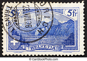 Postage stamp Switzerland 1914 The Rutli Mountain -...