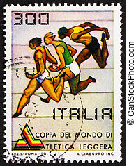Postage stamp Italy 1981 shows World Cup Races
