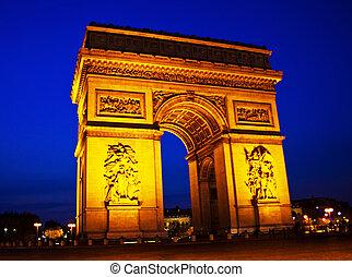 paris, paris, france. arch of triumph - the arch of triumph...