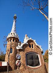 Barcelona, parque, Guell, pan de jengibre, casa, Gaudi