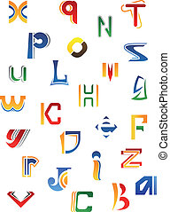 Set of decorative letters - Set of full alphabet decorative...