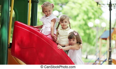 Little girls on the playground