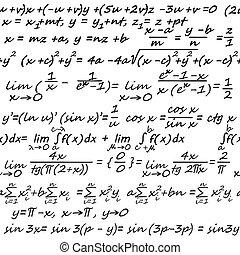 álgebra, seamless, Plano de fondo