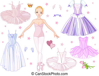 Ballerina with costumes