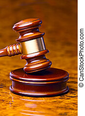 gavel of a judge in court - the gavel of a judge in court....