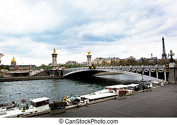 paris, france. pont alexandre iii