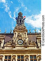 paris, france. city hall hotel de ville