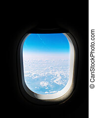 view from an airplane window - the view from an airplane...
