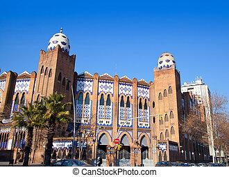 Barcelona bullring La Monumental byzantine and mudejar...