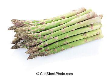Asparagus isolated on white, clipping path included
