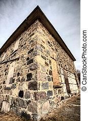 被放棄, 石頭, 建築物