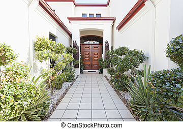 Entrance to mansion