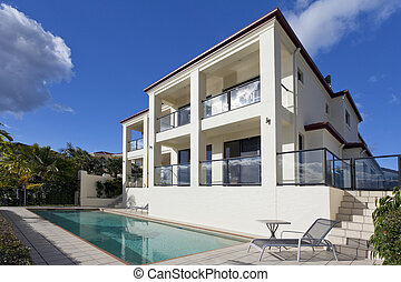 Two storey house - Two storey luxury house with swimming...