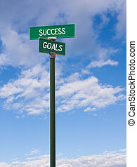 Success-Goals Sign - The intersection of success & goals...