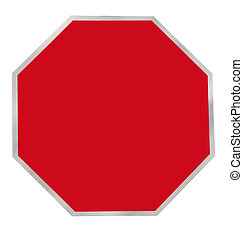 Red Octagon Blank Sign - Octagonal Red Blank Sign for others...
