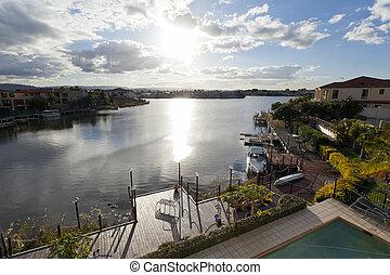 Luxurious waterfront neighbourhood