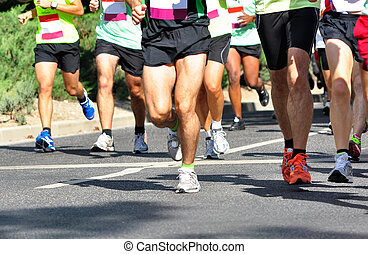 Marathon Racers - Group of marathon racers running