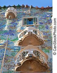 Barcelona Casa Batllo facade of Gaudi in Paseo de Gracia