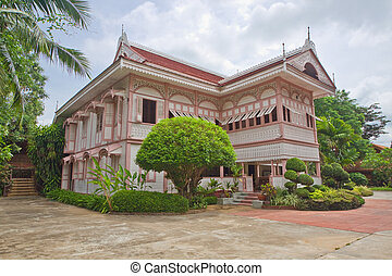 Pavilion of wealthy family on colonial era in Thailand.