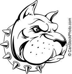 bulldog head - vector image of head of bull dog team mascot...