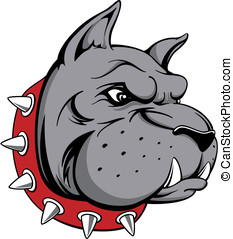 dog head team mascot - vector image of head of bull dog team...