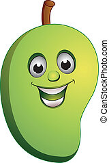 mango smile - illustration of mango smile