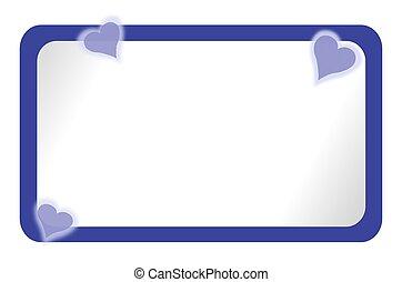 Blue Bulletin Board & Denim Hearts