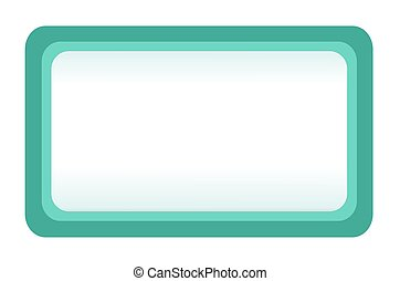 Teal Bulletin Board - Illustration of a teal message board,...