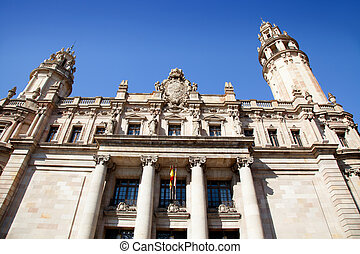 Barcelona Correos post mail building in passeig Colon Via...
