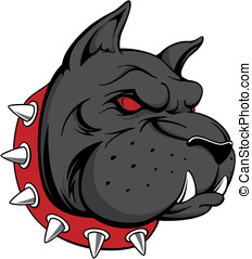 guard dog - vector image of head of black dog, can be used...