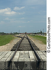 end of the line birkenau auschwitz - end of the railway in...