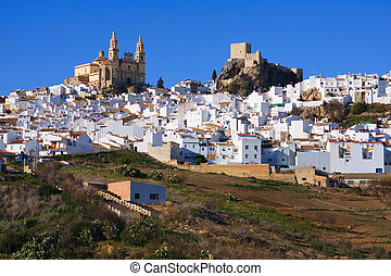 "The ""Pueblo Blanco"" of Olvera. - View of Olvera, one of the..."