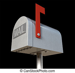 Oldschool Mailbox - An upward view of an old school retro...