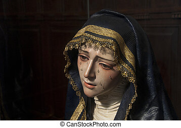 Our Lady of the tears - It is an image of the Virgin Mary...