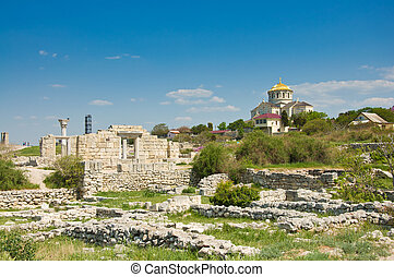 Chersonesus near Sevastopol in Crimea, Ukraine - Ancient...