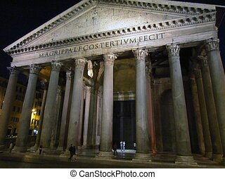 Pantheon, Rome - Pantheon at night in Rome...