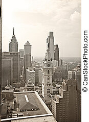Philadelphia Aerial - A view of the city of Philadelphia...