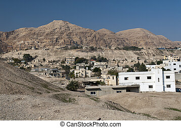 The Mount of Temptation from the city of Jericho, Palestine