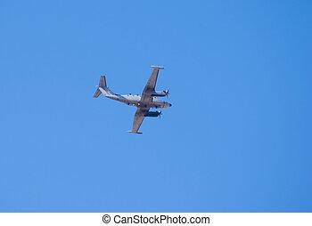 Beechcraft King Air plane in flight