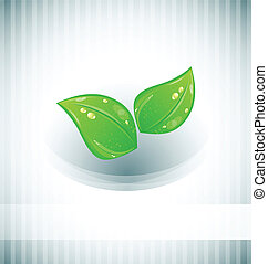 Abstract background with eco green leaves