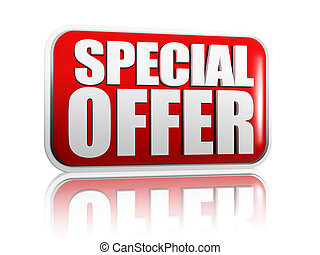 special offer - Special offer red banner with white letters