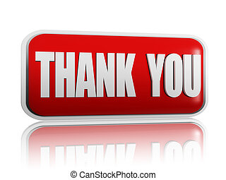 thank you - Thank you red banner with white letters
