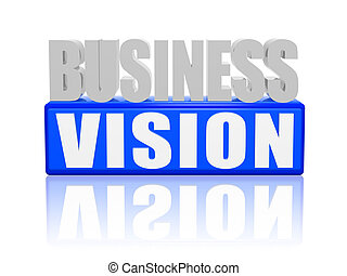 business vision - Business vision concept white and blue...