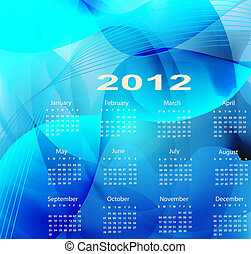Blue calendar for the new year 2012