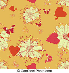 Flower background seamless