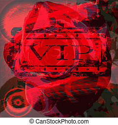 abstract red for VIP clients vector background